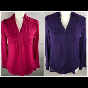EXPRESS Career Boouse 2PC lot XS